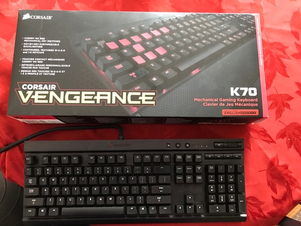 9a9c0c88c3f Corsair Vengeance K70 Black and Cherry MX Red Mechanical Gaming Keyboard