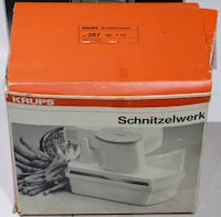 Krups Schnitzelwerk (Vegetable slicer) in box, made in Germany Mississauga