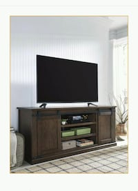 Budmore Rustic Brown Extra Large TV Stand   1201 mi