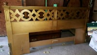 King bed Oak headboard 545 km