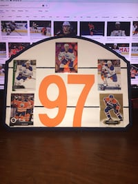 Custom  [TL_HIDDEN] 9 Connor McDavid NHL Sign Mississauga, L5A 2M4