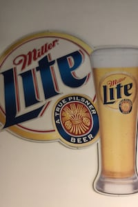1999 Miller light metal beer sign