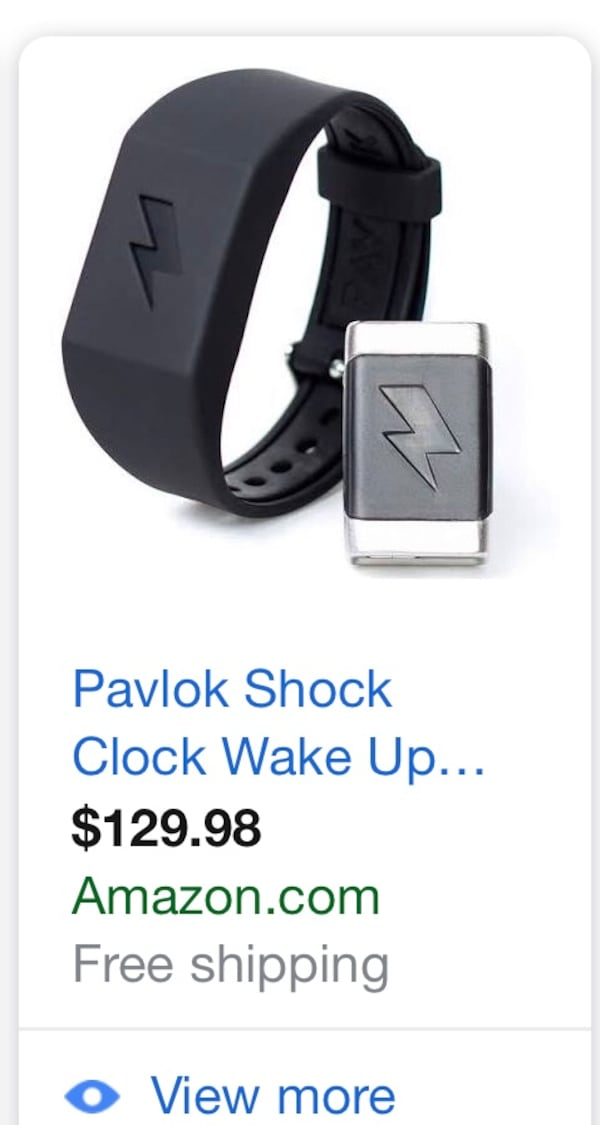 This wristband alarm clock will definitely wake you up.  Can you think of a more certain way of making sure you wake up on time than knowing an electric zap is coming if you don't get out of bed right away?   What would you do with an extra hour a day? Re 4066be10-ff4e-403e-91f0-203d6827ab04