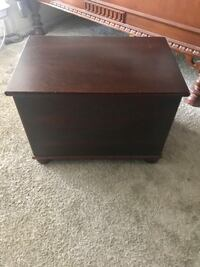 Wood brown chest