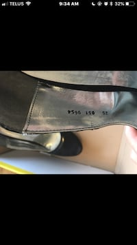 Pair of black leather slip-on shoes Red Deer, T4P 0E7