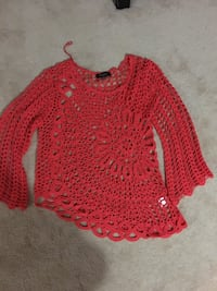 Papillon Salmon crochet top sz L/XL 3734 km