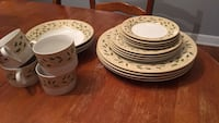 Full set (4) Christmas China by Gibson. Charles Town, 25414