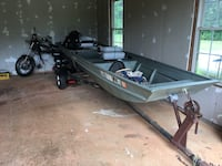 14ft boat for sale with trailer. Will trade for a dirt bike or four wheeler, 1,200 obo. Needing to make space in the garage. Danielsville, 30633