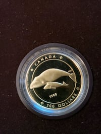 $100 gold coin from the Canadian mint