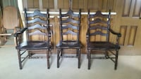 3 Antique Colonial Chairs by S. Bent Brothers  Oklahoma City