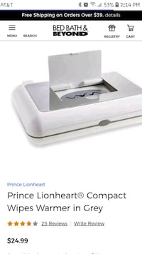 Prince Lionheart® Compact Wipes Wa.rmer in Grey   Las Vegas, 89147