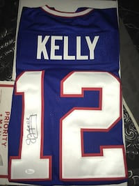 Jim Kelly autographed jersey with JSA/COA card Scotia, 12302
