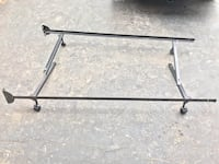 Twin metal bed frame on wheels Bolton, L7E 1A7