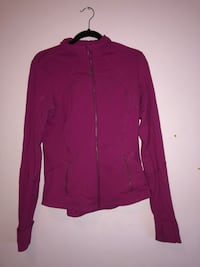 Purple zip-up jacket lululemon size 8 Calgary, T3G 5A4