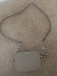 black and gray leather crossbody bag Beaumont, 77706