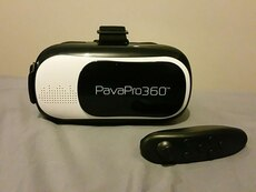 oblong shape black and white PavaPro 360 speaker