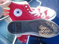 pair of red Converse All Star high-top sneakers Columbus, 43207