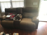 black leather 3-seat sofa Manchester, 37355