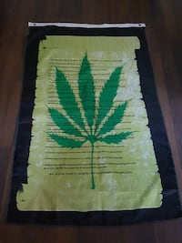 black and green Herb print texted banner Laval, H7W 3K6
