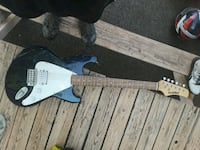 black and blue electric guitar Flushing, 48433