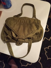 Brown and black leather crossbody bag Midwest City, 73130
