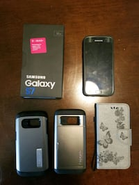 T-Mobile Samsung Galaxy S7 with 4 cases Beaverton, 97008