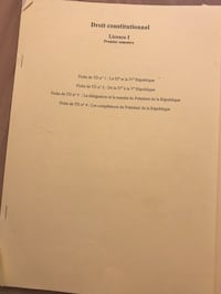 Fiche de TD droit constitutionnel Paris, 75014