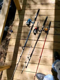 Three fishing reels perfect condition