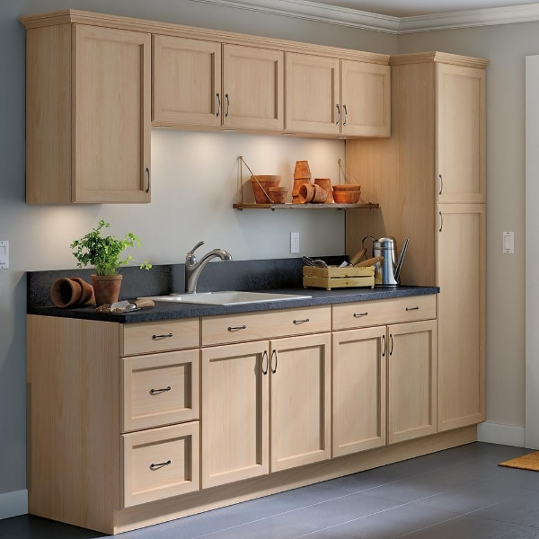 Hampton Bay Easthaven Assembled 30x36x12 In. Wall Cabinet In Unfinished  German Beech