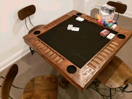 Wooden Poker Table High End