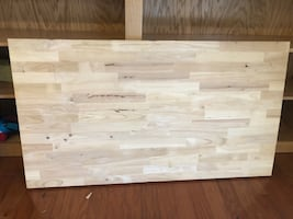 "Butcher block 47.5"" x 26.5"""