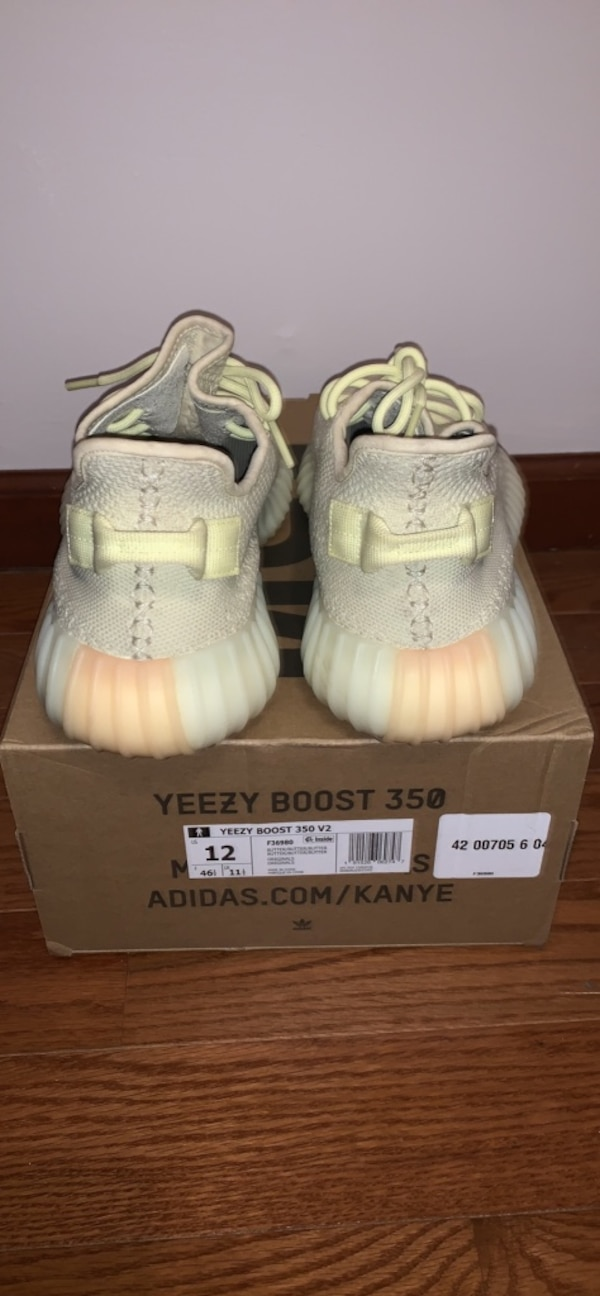 Used Pair of butter adidas yeezy boost 350 with box for sale in ... abeebe7f2