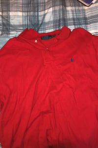 Red and black polo shrt