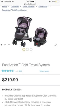 baby's black-and-gray FastAction fold travel system screenshot Houston, 77084