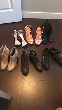 Shoes size 7 and 7.5 for the strap heels. $30 for each pair Calgary, T2Z