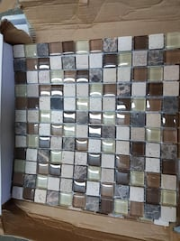 1 x 1 mosaic tile stone and glass WOODBRIDGE