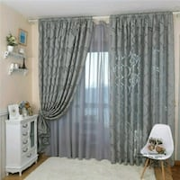 New sheer grey window curtains Montreal, H8T