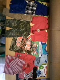 7 tops and 7 bottoms size 4t  1187 mi