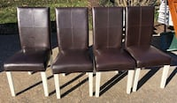 two black leather padded chairs Hampton, 23664