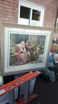 Victorian art with double matted gold frame Vaughan