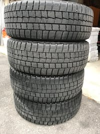 I have set of 4 DUNLOP Snow tires on rims.225/50/17 Very good condition 80-75% left Mississauga