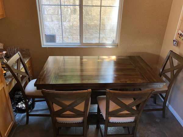 Brilliant Fsu Moriville 6 Piece Dining Table Set Excellent Condition Gmtry Best Dining Table And Chair Ideas Images Gmtryco
