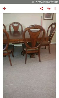 brown wooden dining table set Perris, 92571