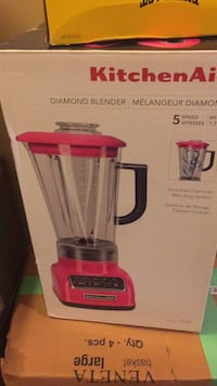 Red and gray kitchen Aid blender box Surrey, V3S 3C2