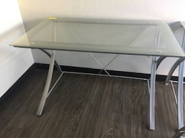 "Computer desk glass tables 48""/30"""