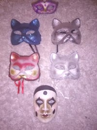 5 Vietnamese masquerade masks in good shape $80 or best offer Abbotsford, V2S 4A1