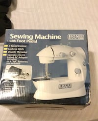 Sewing machine with foot petal