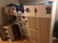 Kids twin bunk bed includes mattress and full bed set Edmonton, T5X 3X3