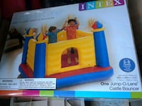 blue and yellow inflatable slide box Louisville, 40203