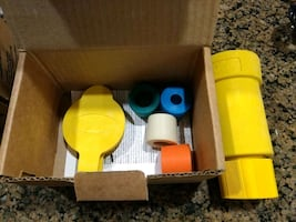 yellow and blue plastic tool